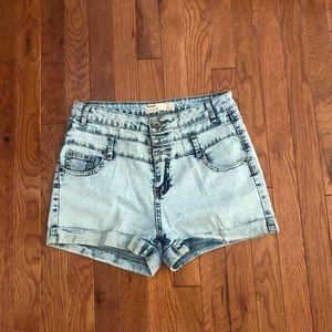 Acid wash Cotton on shorts